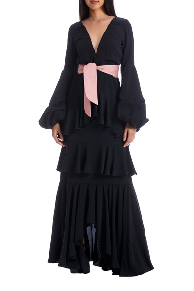 Picture of PIMIENTA DRESS BLACK WITH PINK, Picture 4