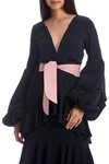 Picture of PIMIENTA DRESS BLACK WITH PINK