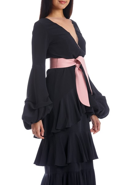 Picture of PIMIENTA DRESS BLACK WITH PINK, Picture 6