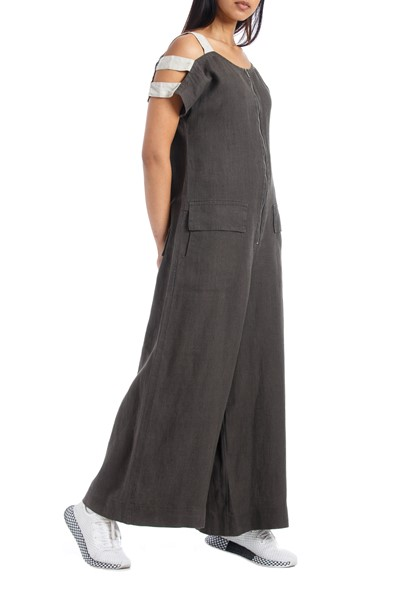 Picture of LINEN JUMPSUIT MASSIMO KHAKI, Picture 2