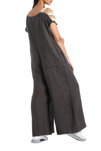 Picture of LINEN JUMPSUIT MASSIMO KHAKI, Picture 4