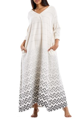 Picture of THALIA DRESS GREY MEANDER