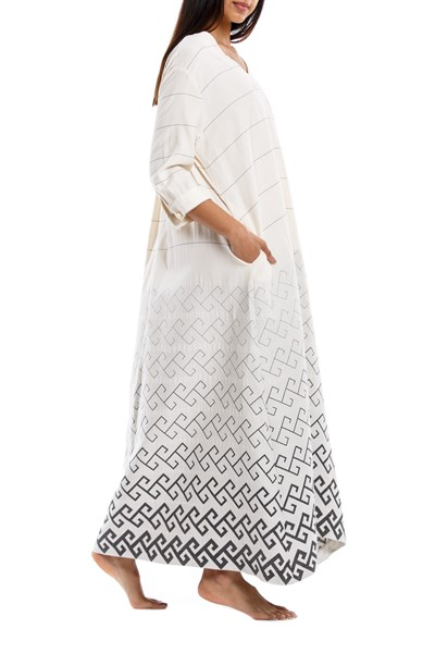 Picture of THALIA DRESS GREY MEANDER, Picture 2