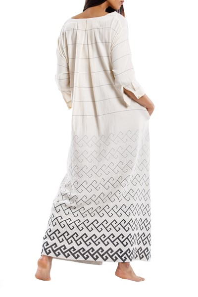 Picture of THALIA DRESS GREY MEANDER, Picture 4