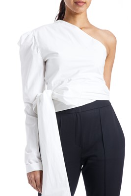 Picture of ONE SHOULDER WRAP TOP