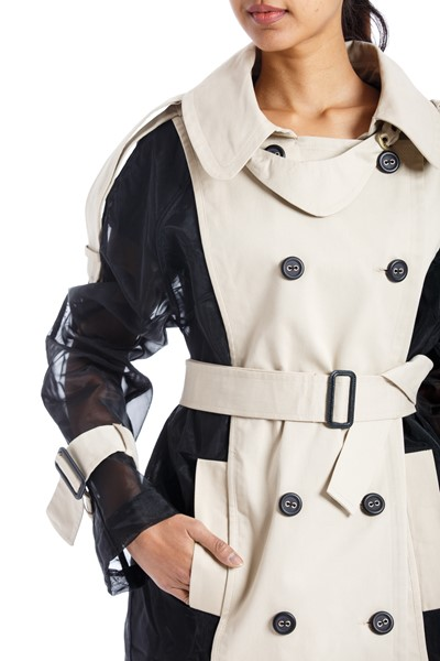 Picture of Bi color Trench Coat , Picture 3