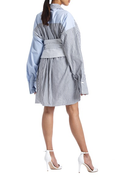 Picture of Oversized Corset Belted Poplin Shirt , Picture 4