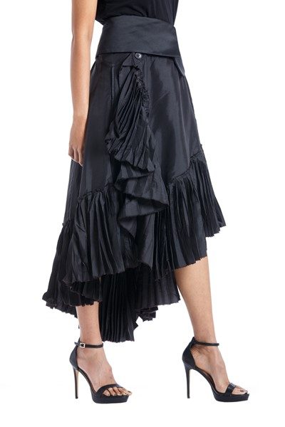 Picture of Asymmetric Wrap pleated Skirt , Picture 2