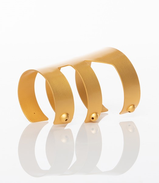 Picture of Wounam Gold-Plated Brass Cuff Bracelet, Picture 5