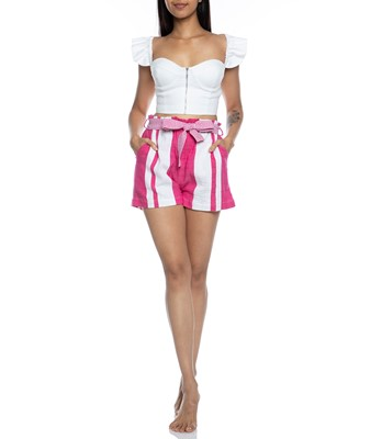 Picture of ZOYA TIE BELT SHORTS