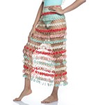 Picture of HEARTED HANF-KNITTED MAXI SKIRT