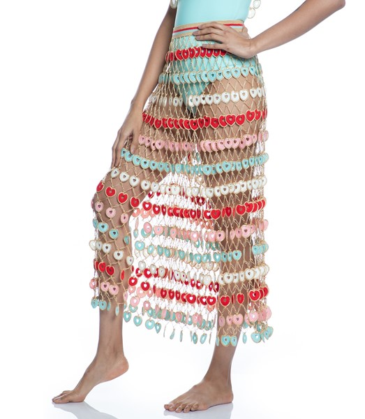 Picture of HEARTED HANF-KNITTED MAXI SKIRT, Picture 7