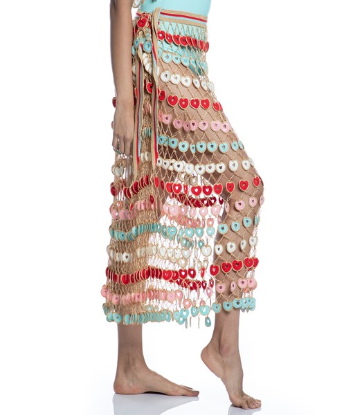 Picture of HEARTED HANF-KNITTED MAXI SKIRT, Picture 8