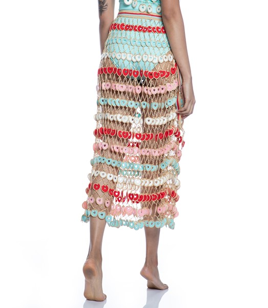Picture of HEARTED HANF-KNITTED MAXI SKIRT, Picture 9