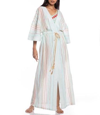 Picture of LONG KAFTAN STRIPED FABRIC