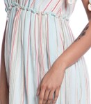 Picture of LONG DRESS STRIPED FABRIC