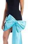 Picture of Bow Embellished Strapless Crepe & Silk Corset Mini Dress