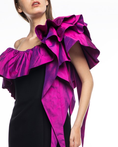 Picture of Long Dress Black & Magenta, Picture 4