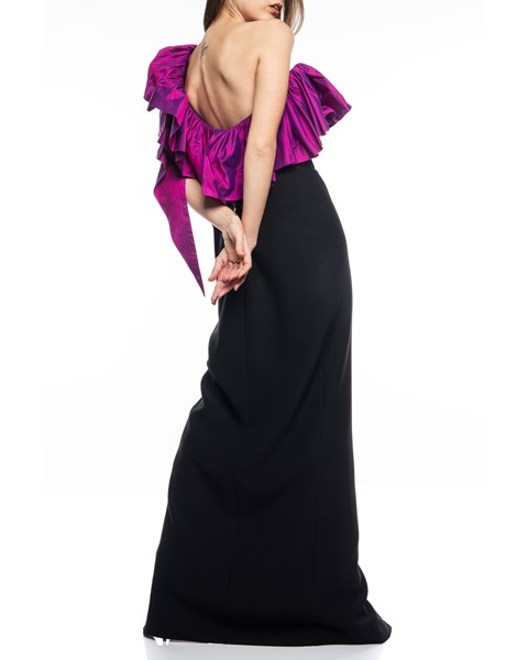 Picture of Long Dress Black & Magenta, Picture 5