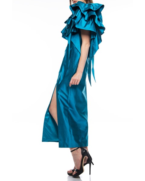 Picture of Long Dress Turquoise, Picture 3