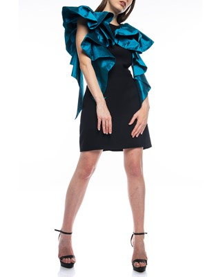 Picture of Short Dress Black & Dark Turquoise