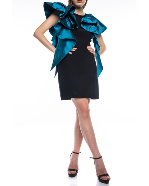 Picture of Short Dress Black & Dark Turquoise, Picture 2
