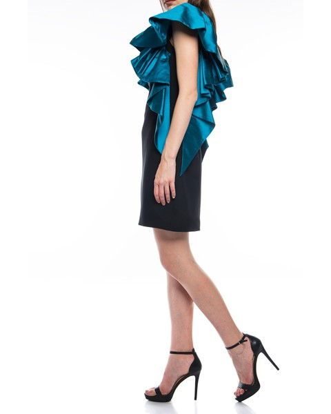 Picture of Short Dress Black & Dark Turquoise, Picture 4