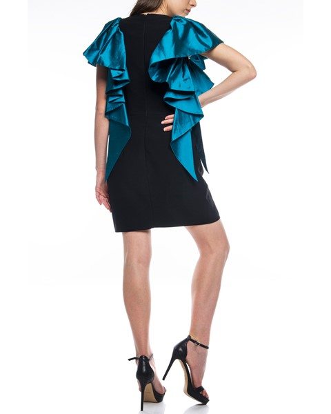 Picture of Short Dress Black & Dark Turquoise, Picture 6