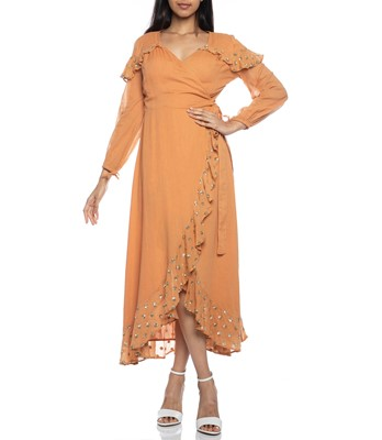 Picture of Ines Long Dress Cinnamon
