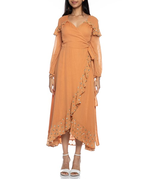 Picture of Ines Long Dress Cinnamon, Picture 2