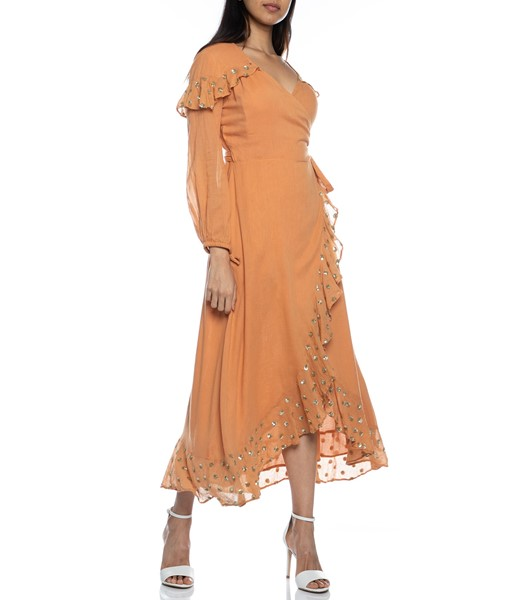 Picture of Ines Long Dress Cinnamon, Picture 4