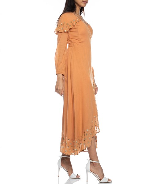 Picture of Ines Long Dress Cinnamon, Picture 6