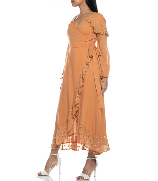 Picture of Ines Long Dress Cinnamon, Picture 7