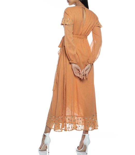 Picture of Ines Long Dress Cinnamon, Picture 8