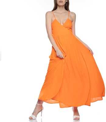 Picture of ALMA SLEEVELESS WRAP MAXI DRESS