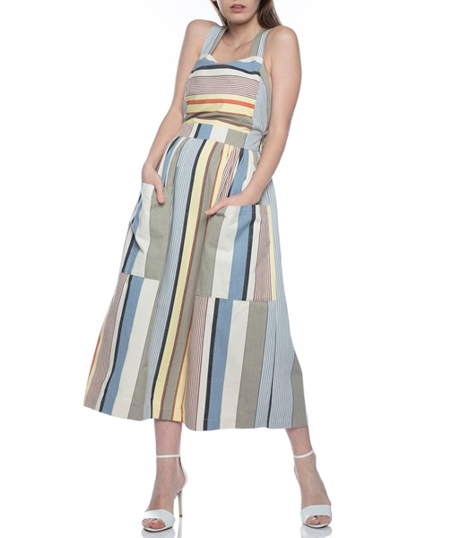 Picture of APRON DRESS GREY STRIPE, Picture 1