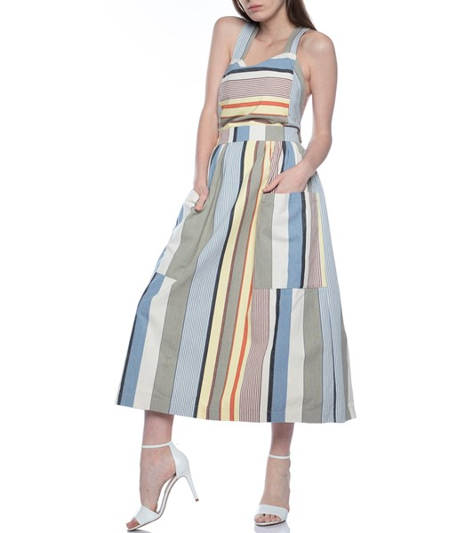 Picture of APRON DRESS GREY STRIPE, Picture 2