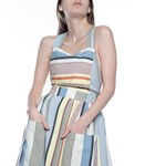 Picture of APRON DRESS GREY STRIPE