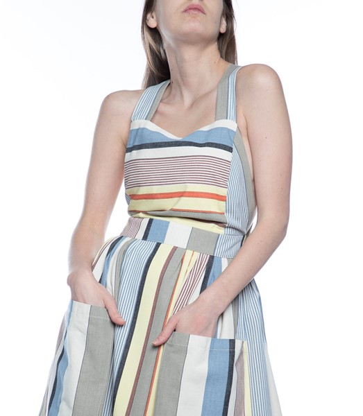 Picture of APRON DRESS GREY STRIPE, Picture 4