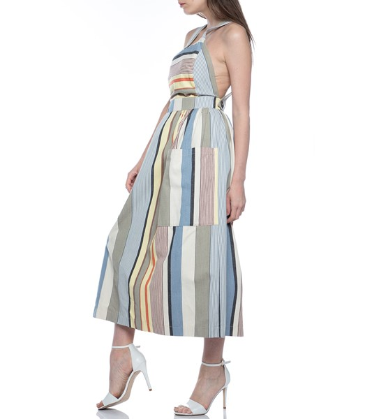 Picture of APRON DRESS GREY STRIPE, Picture 5