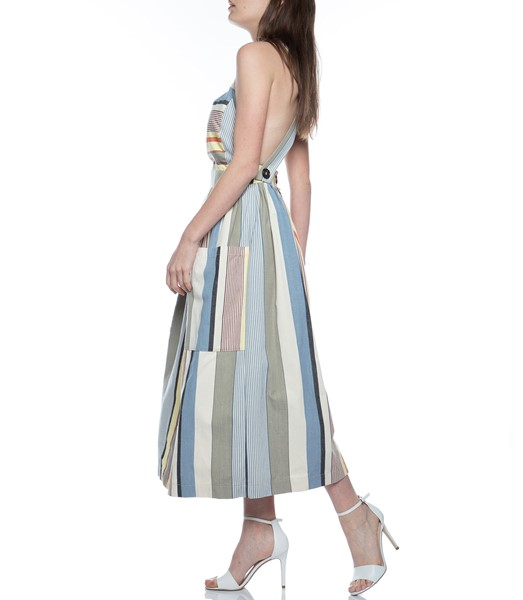Picture of APRON DRESS GREY STRIPE, Picture 6