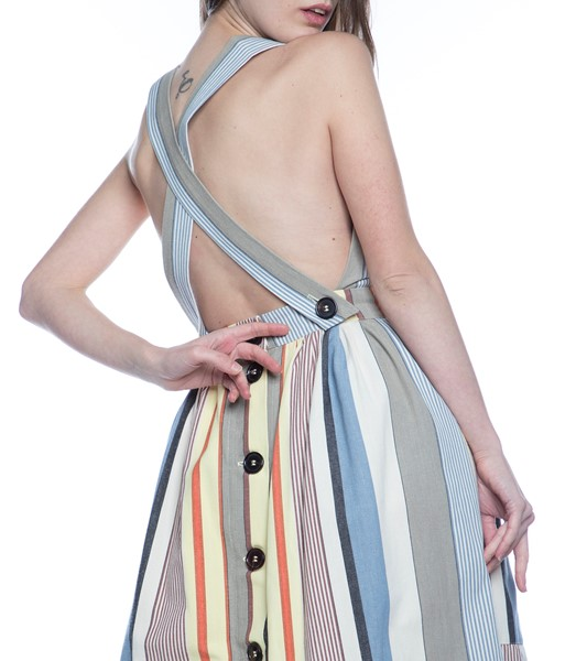 Picture of APRON DRESS GREY STRIPE, Picture 7