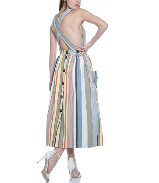 Picture of APRON DRESS GREY STRIPE, Picture 8