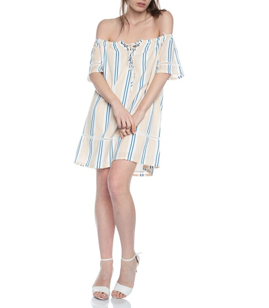Picture of STRIPE OFF THE SHOULDER DRESS , Picture 1