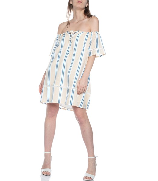 Picture of STRIPE OFF THE SHOULDER DRESS , Picture 2