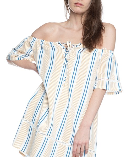 Picture of STRIPE OFF THE SHOULDER DRESS , Picture 3