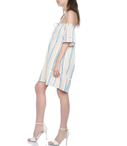 Picture of STRIPE OFF THE SHOULDER DRESS , Picture 4