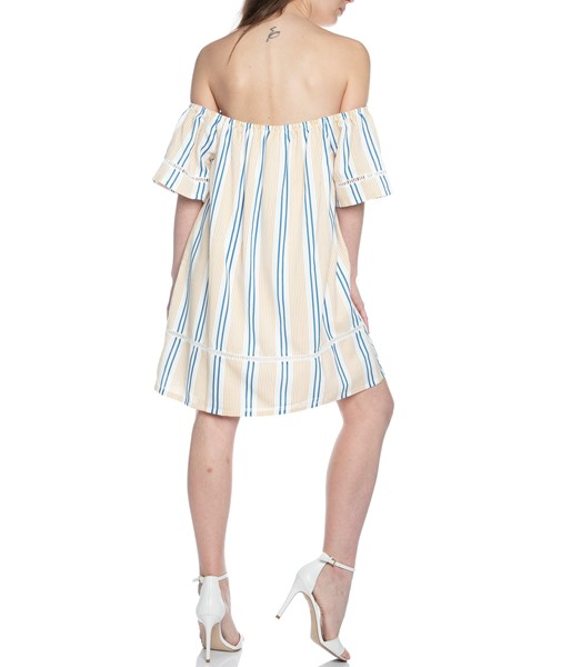 Picture of STRIPE OFF THE SHOULDER DRESS , Picture 5