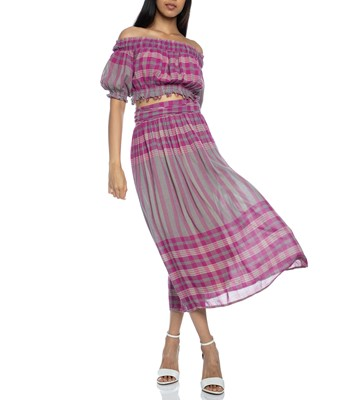 Picture of LA ELISA WRAP SKIRT LA INDIA PLAID