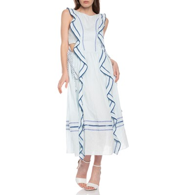 Picture of TEXTURED VOILE RAEL DRESS